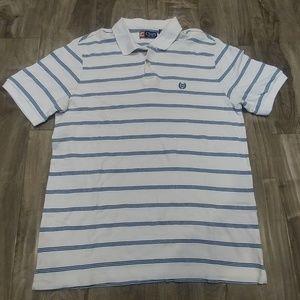 White sStriped Chaps Polo Shirt (L)